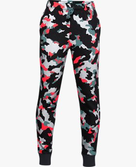 Boys' UA Rival Fleece Printed Joggers