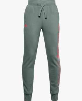 Boys' UA Rival Fleece Graphic Joggers