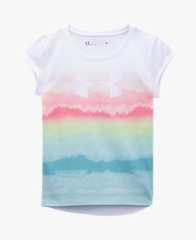 Girls' Pre-School UA Ombre Logo Short Sleeve