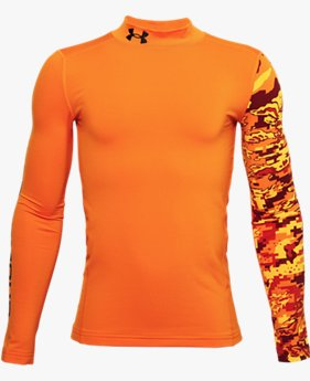 Boys' ColdGear® Armour Mock Long Sleeve