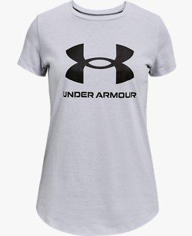 เสื้อแขนสั้น UA Sportstyle Graphic สำหรับเด็กผู้หญิง