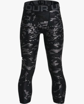 Boys' HeatGear® Armour Printed ¾ Leggings