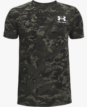 Boys' UA ABC Camo Short Sleeve
