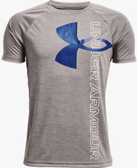 男童UA Tech™ Split Logo Hybrid短袖T恤