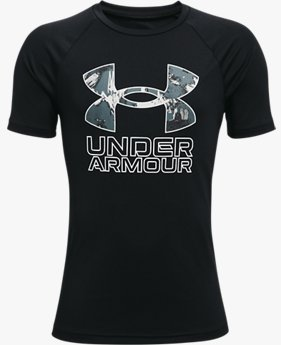 Boys' UA Tech™ Hybrid Print Fill Short Sleeve