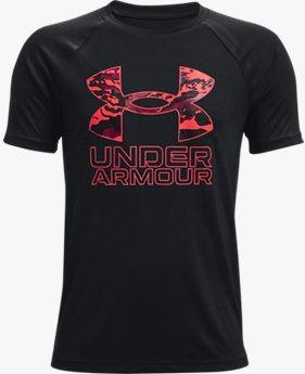 Boys' UA Tech™ Hybrid Print Fill Short Sleeve