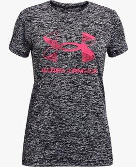 Meisjesshirt UA Graphic Twist Big Logo met korte mouwen