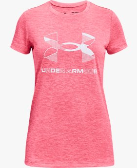 Girls' UA Graphic Twist Big Logo Short Sleeve