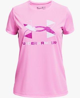 Girls' UA Tech™ Graphic Big Logo Short Sleeve