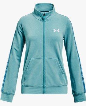 Vêtement entièrement zippé à bande UA Rival Terry pour fille