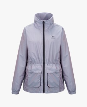 여성 UA RUSH™ 우븐 이리데슨트 재킷