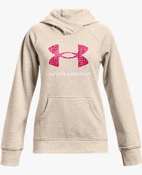 Girls' UA Rival Fleece Core Logo Hoodie