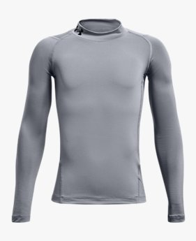 Boys' HeatGear Armour® Mock Long Sleeve