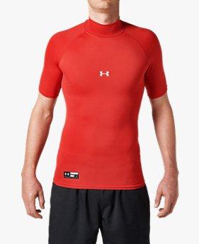 UAヒートギアアーマー コンプレッション ショートスリーブ モック(ベースボール/半袖ベースレイヤー/MEN)