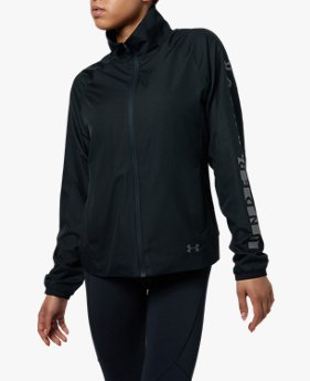 【アウトレット】UAトリコットウーブンフルジップジャケット(WOMEN)