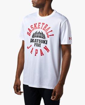 【アウトレット】UAバスケットボール男子日本代表テックTシャツ<ROUNDLOGO>(バスケットボール/Tシャツ/MEN)