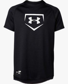 【アウトレット】UAビッグロゴ ユース ベースボール シャツ(ベースボール/BOYS)