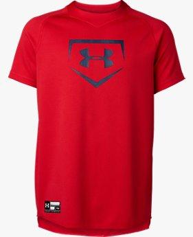 UAビッグロゴ ユース ベースボール シャツ(ベースボール/Tシャツ/BOYS)