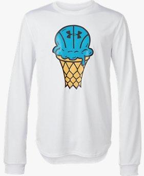 UAユースクリーム Tシャツ(バスケットボール/ロングスリーブ/BOYS)