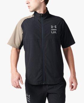 UAサマーウーブン フルジップ ショートスリーブ ジャケット(トレーニング/ジャケット/MEN)