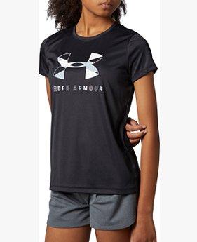 UAテック グラフィック ビッグロゴ ショートスリーブ Tシャツ(トレーニング/GIRLS)