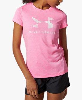 UAグラフィック ツイスト ビッグロゴ ショートスリーブ Tシャツ(トレーニング/GIRLS)