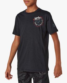 UA PROJECT ROCK ショートスリーブ Tシャツ<IRON PARADISE>(トレーニング/BOYS)