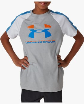 UAスポーツスタイル カラーブロック ショートスリーブ(トレーニング/BOYS)