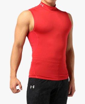 【アウトレット】UAヒートギアアーマー モック スリーブレス(トレーニング/MEN)