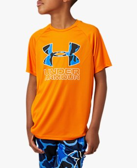 UAテック ハイブリッド プリント フィルロゴTシャツ(トレーニング/BOYS)