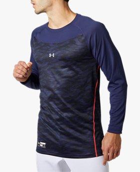 UAテック フィッティド ロングスリーブ クルー シャツ グラフィック(ベースボール/MEN)