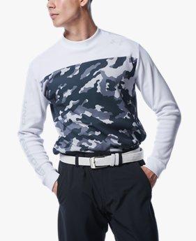 UAコールドギア クルー シャツ カモ(ゴルフ/MEN)
