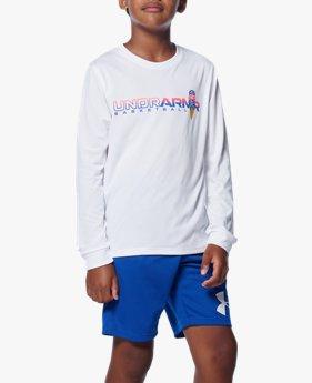 UAユース テック ヒーティング アップ ロングスリーブ Tシャツ(バスケットボール/BOYS)