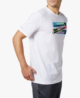 UAハートビート レトロ Tシャツ <NEON TRIPLE>(トレーニング/MEN)