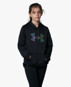 UAアーマーフリース シークイン ロゴ フーディー(トレーニング/KIDS)