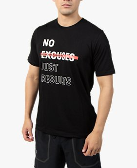 UA NO EXCUSES JUST RESULTS Tシャツ(トレーニング/MEN)