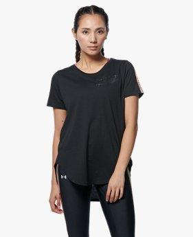 UAデザインプリント Tシャツ 80s(トレーニング/WOMEN)