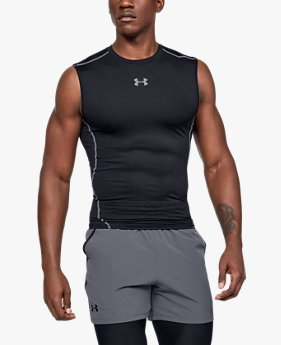 Playera UA HeatGear® Armour Sleeveless Compression para Hombre