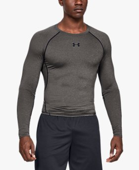 Men's HeatGear® Armour Long Sleeve Compression Shirt