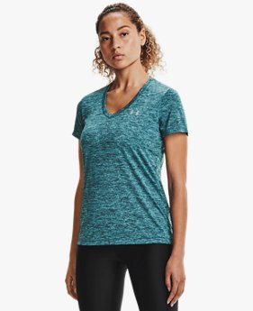 Damesshirt UA Tech™ Twist met V-hals