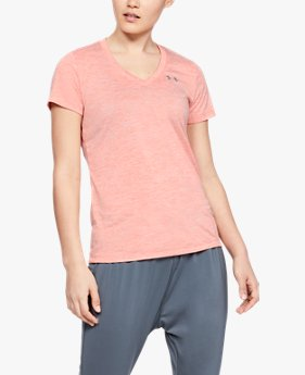 Camiseta UA Tech™ Twist V-Neck Feminina