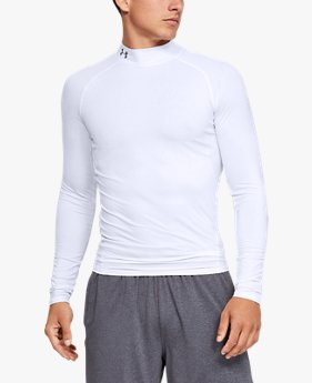 Men's HeatGear® Armour Compression Long Sleeve Mock