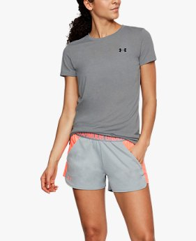 Camiseta UA Microthread Train Twist Feminina