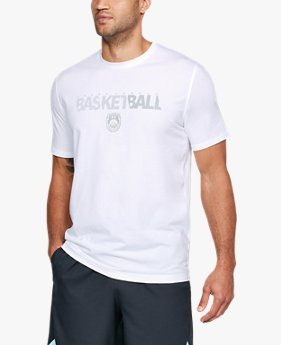 Camiseta UA Basketball Wordmark Masculina 0723365f3640f