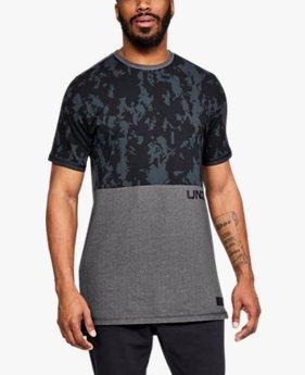 Erkek UA Pursuit Baskılı Tişört