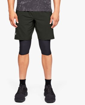 UA Launch 2-in1 Long Shorts untuk Pria