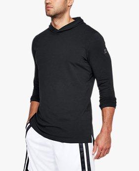 Erkek UA Baseline Uzun Kollu Kapüşonlu Tişört