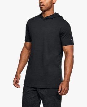 Erkek UA Baseline Kısa Kollu Kapüşonlu Tişört
