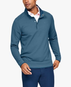 Camiseta ajustada UA Storm SweaterFleece Snap para hombre