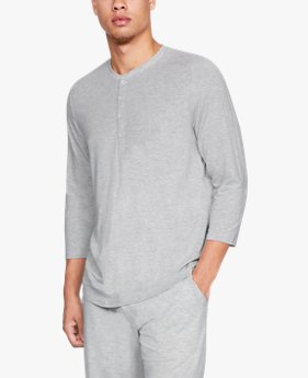 Men's Athlete Recovery Sleepwear™ Ultra Comfort 3/4 Henley Top